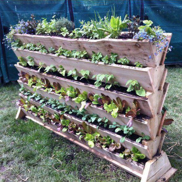 Vertical vegetable gardening project garden flowers - Fabriquer un jardin en hauteur ...
