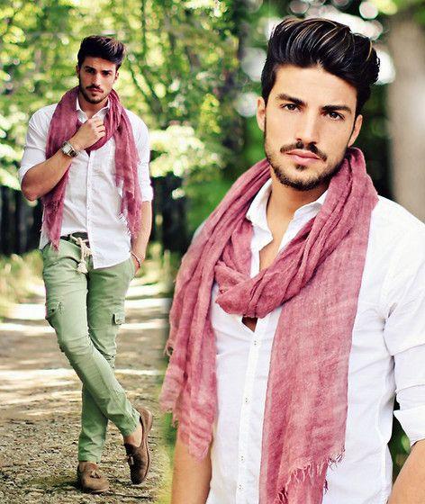 mens pink scarf