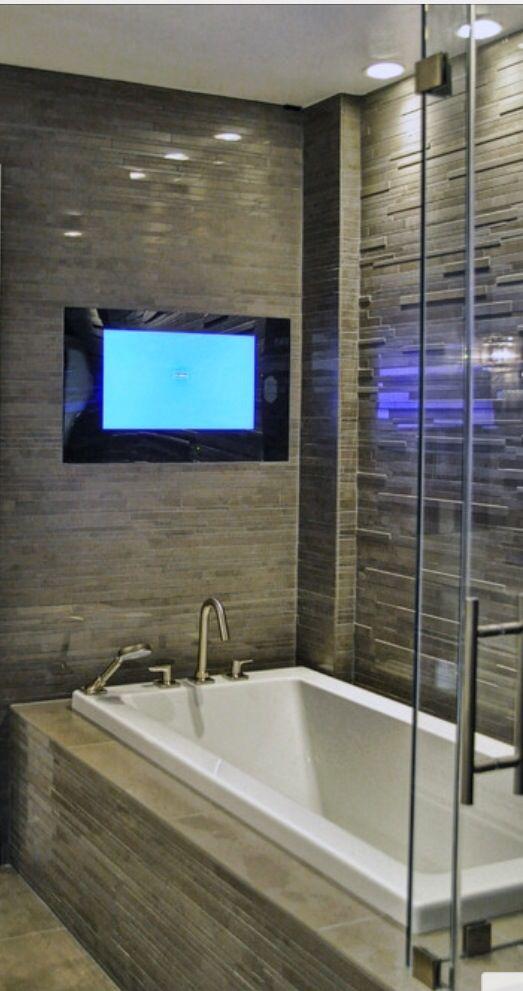 Master Bath With Tv Bathroom Reno Ideas Pinterest