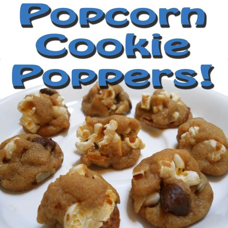 Popcorn cookie poppers