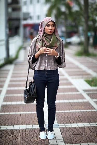 Casual Hijab Style Hijab Fashion Pinterest