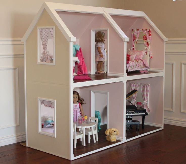 Digital Doll House Plans For American Girl Dolls 4 Rooms
