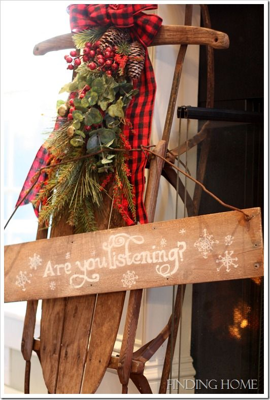Front porch idea love this sled outdoor christmas for Antique sled christmas decoration