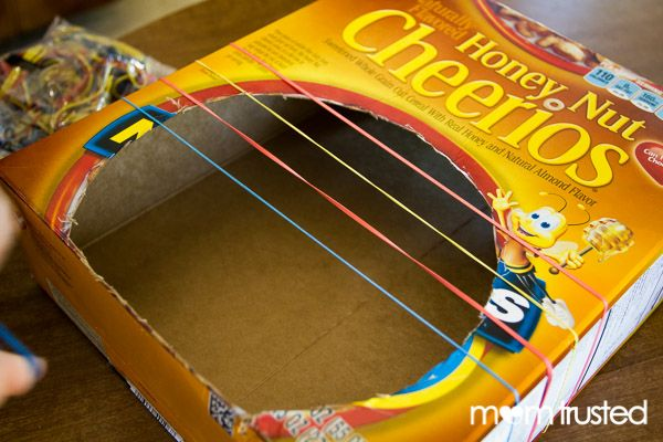 Cereal box guitar 2 art projects pinterest for Diy music projects