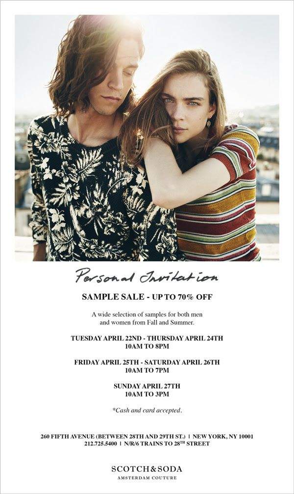 Maison Scotch Sample Sale