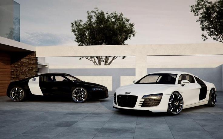 Audi R8 - Black & White | Cars | Pinterest