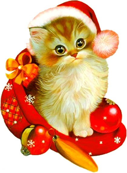 Christmas cat is the perfect gift by UniquePatternStudio on Etsy
