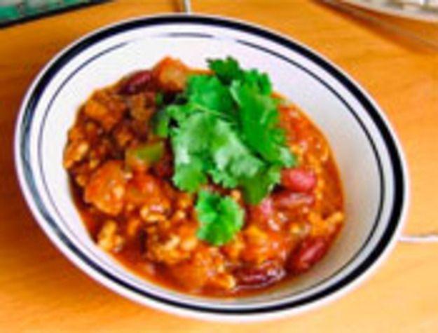 Pumpkin turkey chili: substitute veggie ground round for the turkey ...