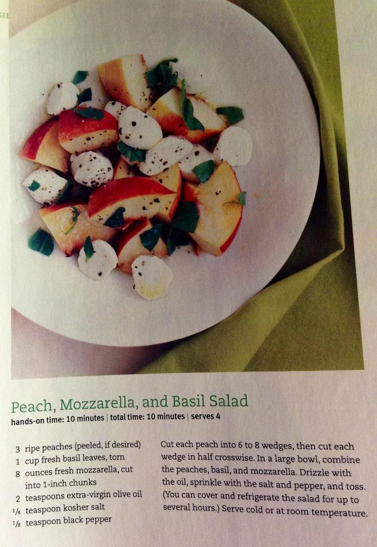 Nectarines, basil, and mozzarella | Food | Pinterest