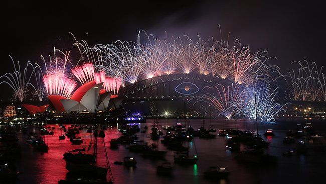 New Years Eve Australia - midnight fireworks light up the sky over the Opera House as Sydney welcomed in 2014. Picture: James Croucher fireworks seen from space New Year's Eve: Fireworks seen from space d0c43aafd7e7fad72badba8cb74af1a1