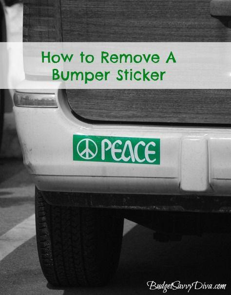 How to Remove a Bumper Sticker