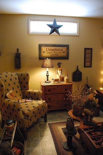 Primitive living room primitive style decor pinterest