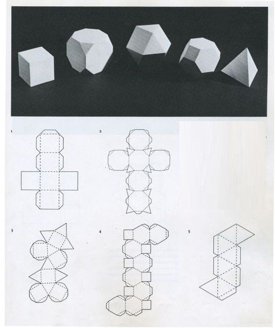 Как сделать объемные фигуры из бумаги своими руками схемы шаблоны 82