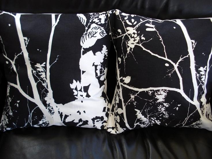 Etsy White Throw Pillow : Throw pillow covers black and white tree design cushion shams UK desi?
