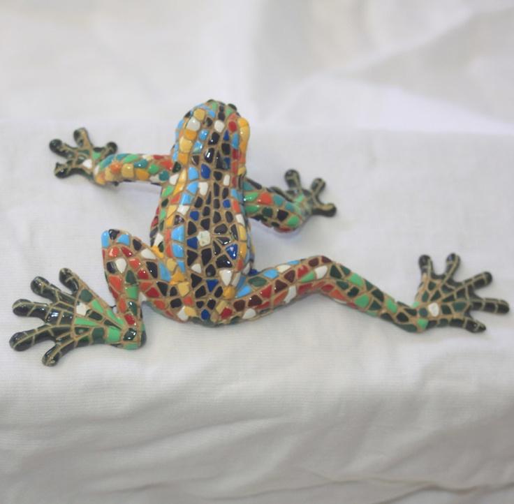 frog mosaic | Outdoor Fence Decor | Pinterest