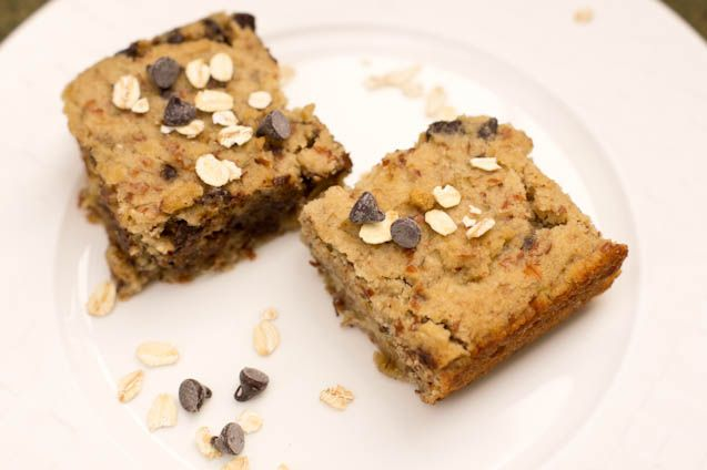 Oatmeal White Chocolate Cookie Dough Bars Recipe — Dishmaps
