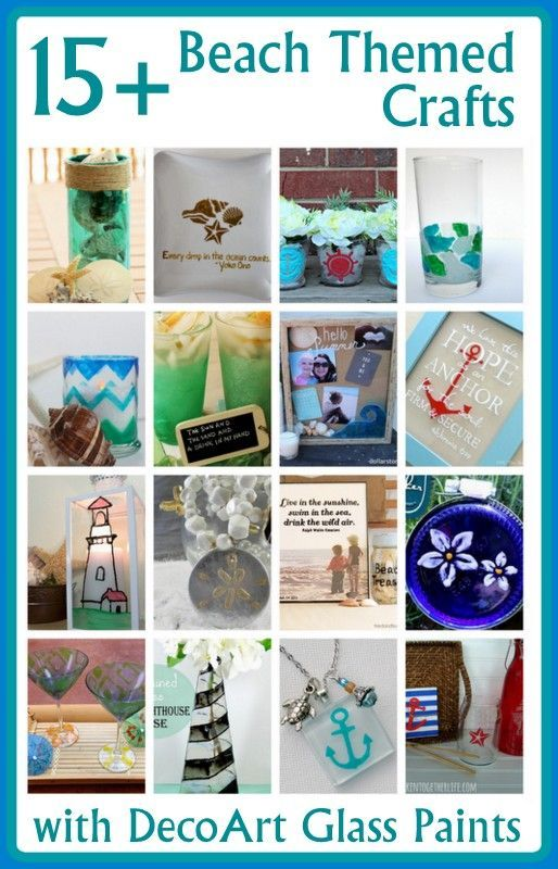 Awesome Beach Themed Crafts Crafts Crafts And More Crafts Pi