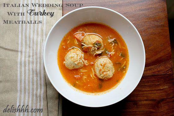 Italian Wedding Soup with Turkey Meatballs | Recipe