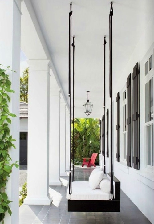 Modern porch swing | Living Spaces - Outdoor | Pinterest