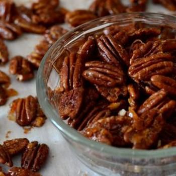 Sweet and Spicy Orange Glazed Pecans | Yummy Foods-appetizers and ...