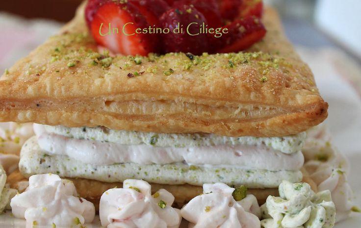 ... .blogspot.it/2014/03/pistachio-and-strawberry-mousse-mille.html