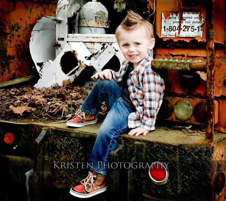 Perfect. Boy clothes. Boy hair. Kid. Gator. Old truck. Photography