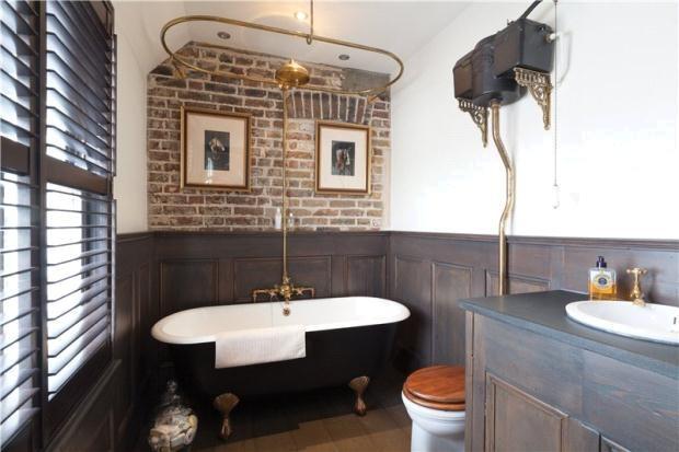 Black roll top bath home ideas pinterest for Roll top bathroom ideas