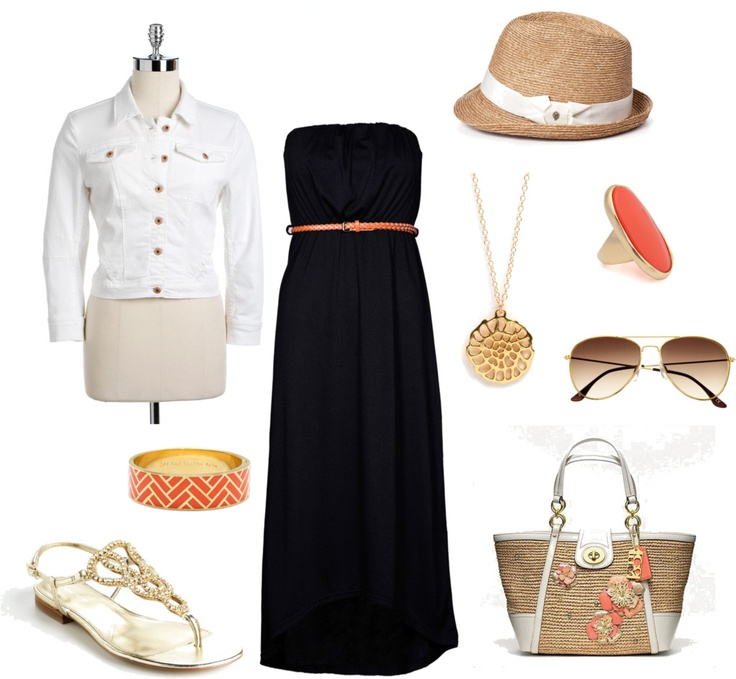 Black maxi dress brown braided belt if i had stlye pinterest