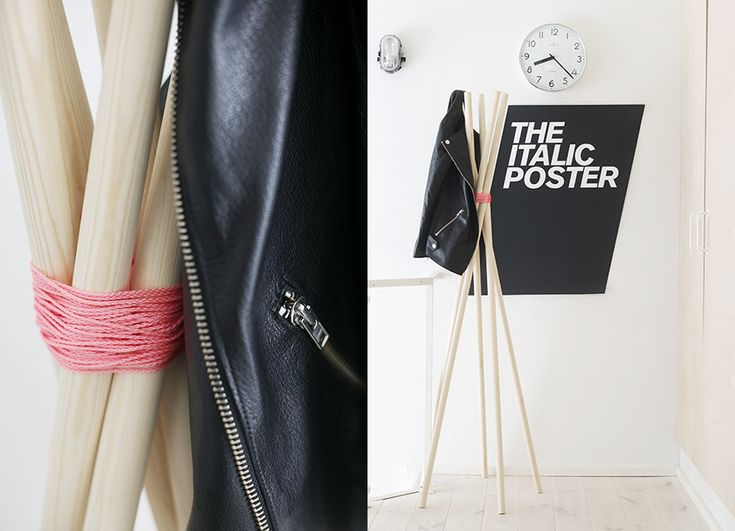 super easy coat rack from weekday carnival!