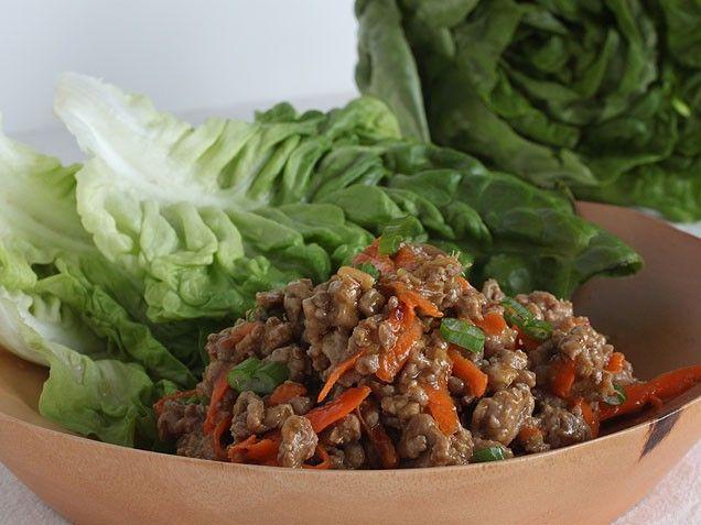 Spicy Asian Turkey Lettuce Wraps | Recipe