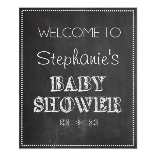 chalkboard welcome baby shower sign print
