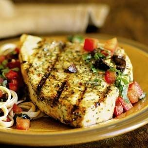 Grilled Swordfish Steaks With Olive Pesto Recipes — Dishmaps