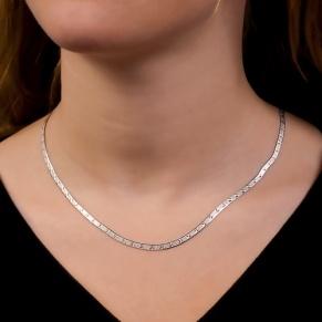 Sterling silver necklace. Etched star design.