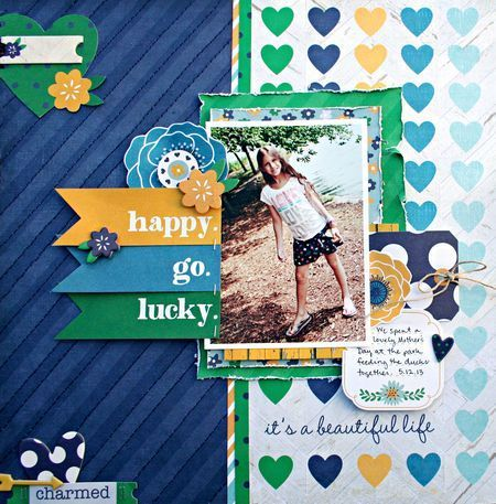 This charming layout by Heather Leopard used A Charmed Life collection from Simple Stories.