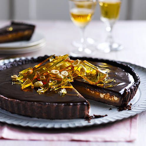 Caramel peanut chocolate tart - chocolate tart recipe