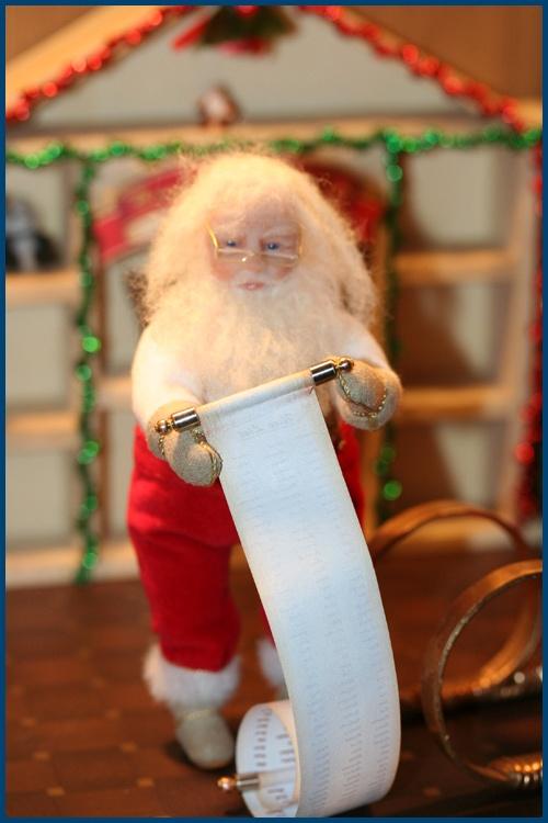 Santa checking his list. | OOAK Treasures of Christmas Past | Pintere ...