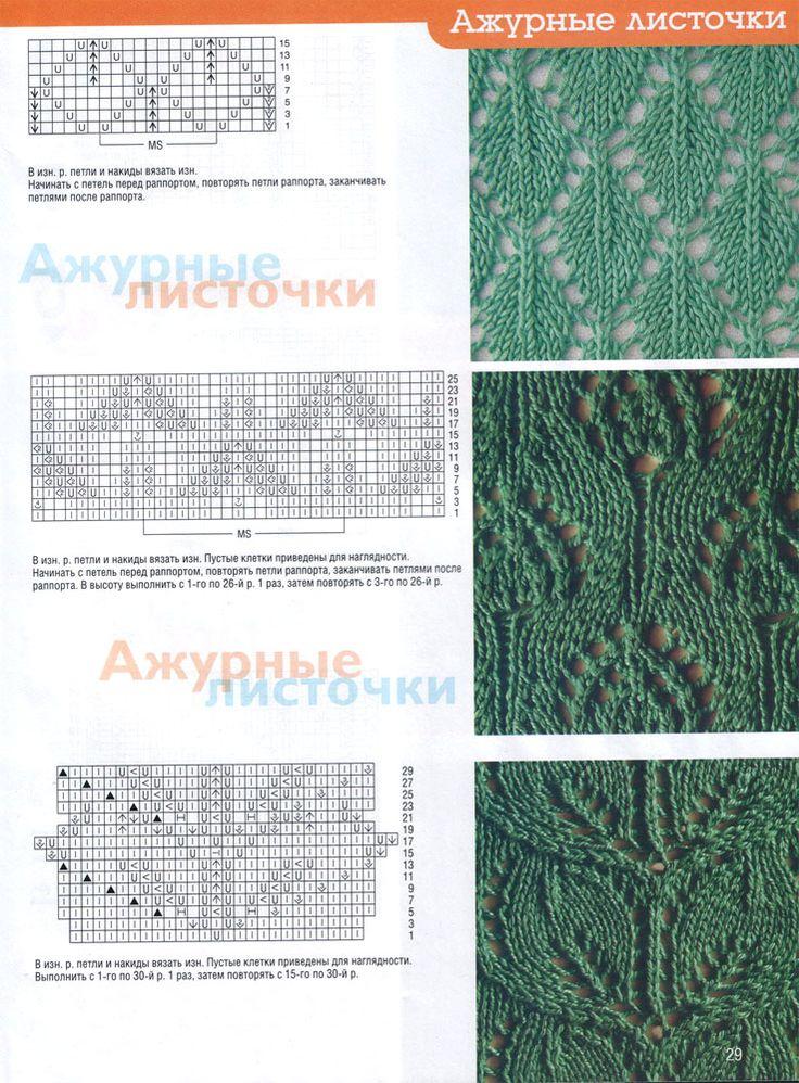 Вязание спицами узоры фото рисунки