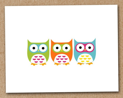 Owl Card Personalized Blank Note Cards Stationery by Luv2ScrapForU, $11.50