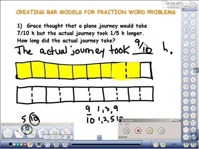 Hershey Bar Fraction Numberline Template | New Calendar Template Site