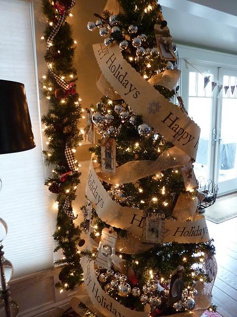 Skinny Tree Christmas Pinterest