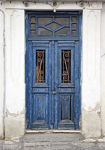 Beautiful vintage blue doors.