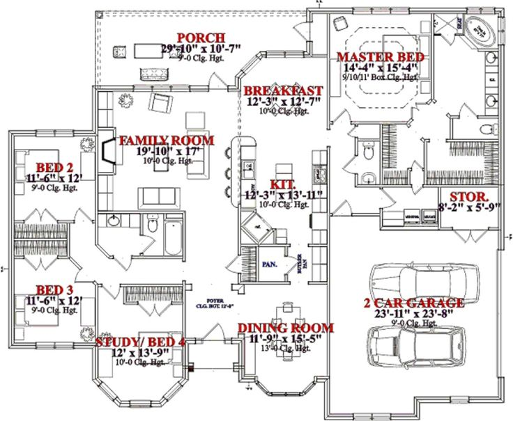 Pin by kristel willingham on for the home pinterest for Floor plans 50 feet wide