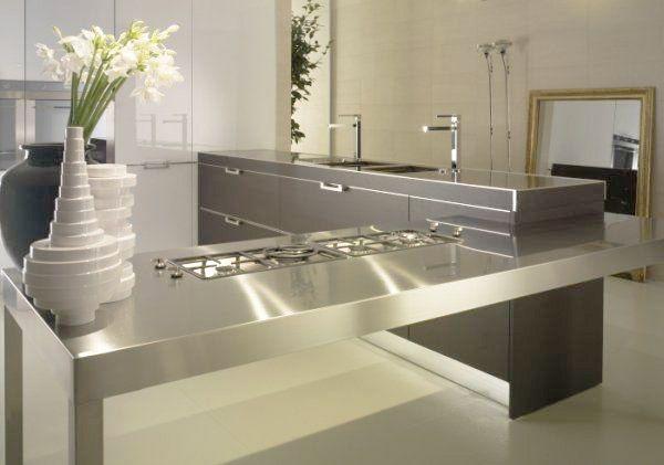 Countertop Materials Modern : Stylish Kitchen Countertop Materials, 18 Modern Kitchen Ideas