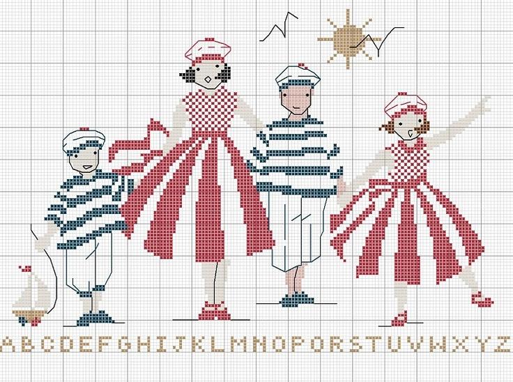 Схема вышивки морячка 62