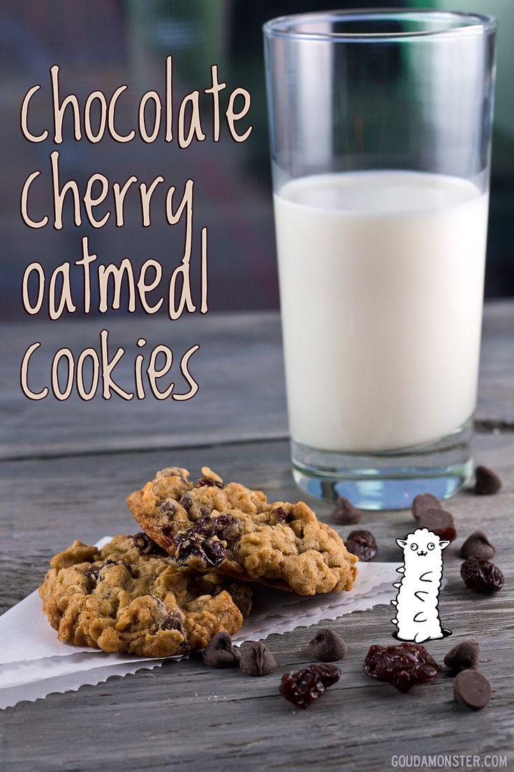 Chocolate Cherry Oatmeal Cookies | Dessert | Pinterest