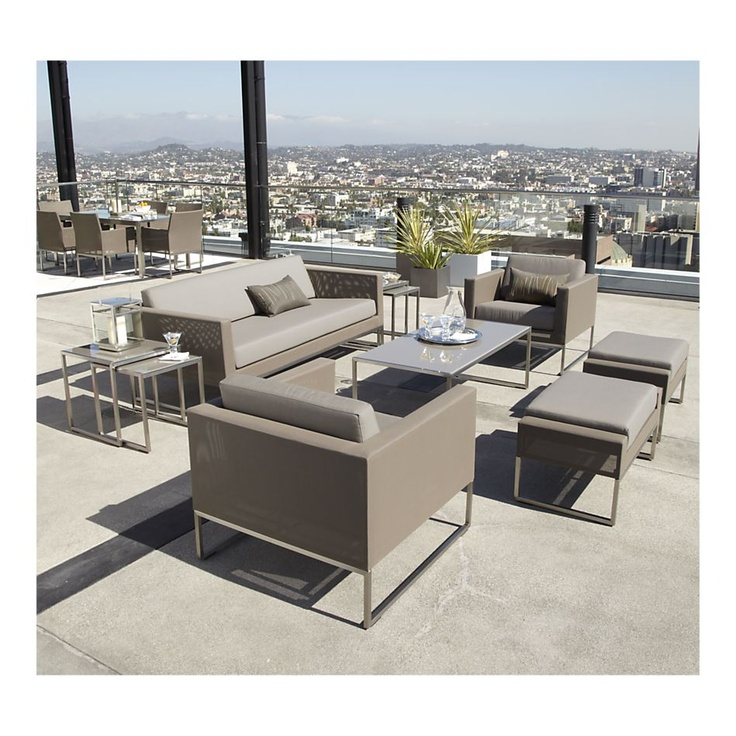 deck furniture crate and barrel decks pinterest