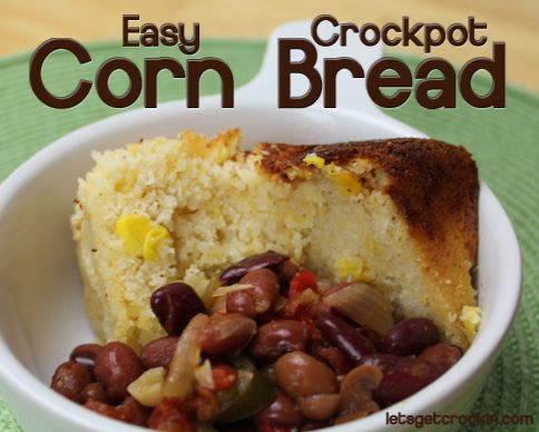 is a delicious and easy easy crockpot cornbread recipe. It is simple ...