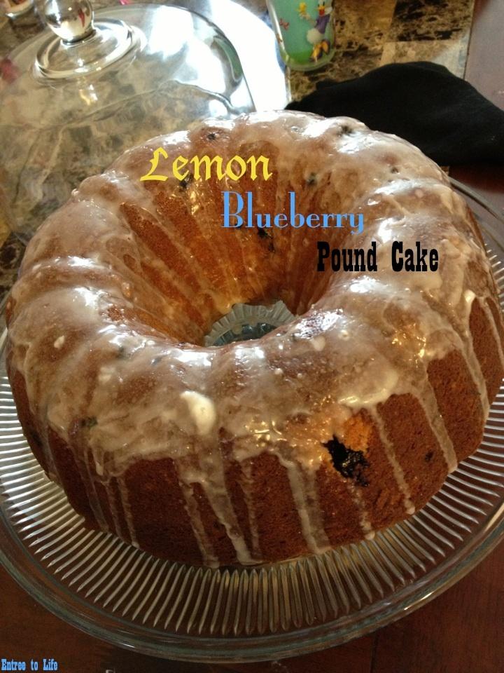 Entree To Life || Lemon-Blueberry Pound Cake -- moist, delicious and ...