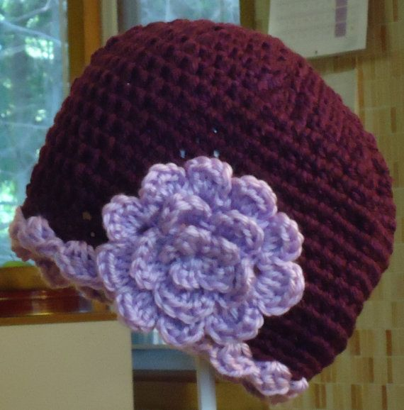 Crochet Patterns Chemo Caps : Easy Crochet Pattern for Womens Chemo Cap with Flower by zeepazoo, $3 ...
