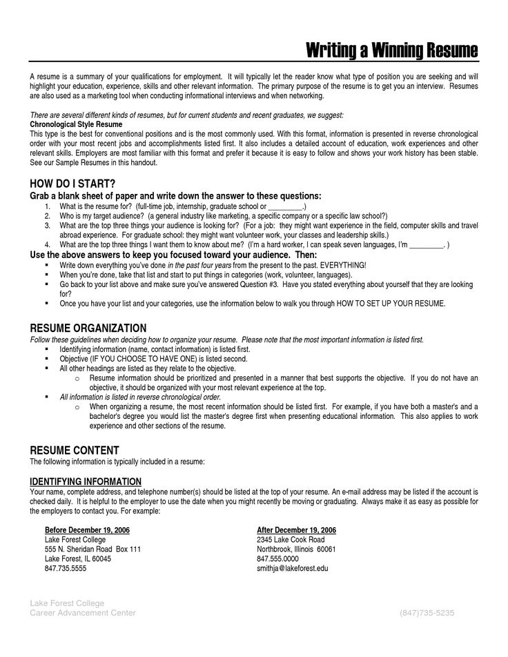 Resume Sample For Volunteer Position